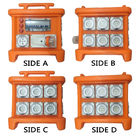 Sistem Distribusi Tenaga Listrik MK1 Kotak Karet Orange Outdoor Distribution Board Stackable